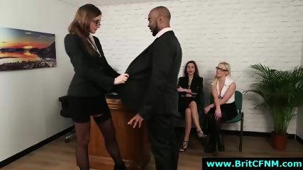 British office ladies suck black CFNM amateur