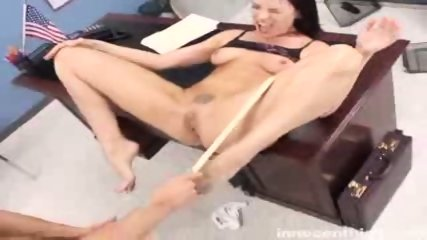Rebellious Dana gets her tattooed pussy fucked by the dean - scene 10