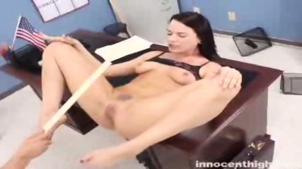 Rebellious Dana gets her tattooed pussy fucked by the dean - scene 12