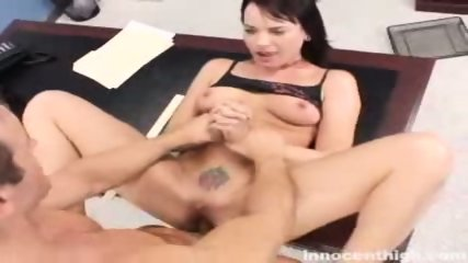 Rebellious Dana gets her tattooed pussy fucked by the dean - scene 5