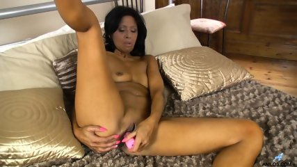 Ebony Woman Plays With Dildo
