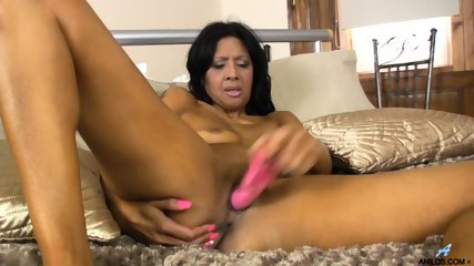 Ebony Woman Plays With Dildo - scene 12