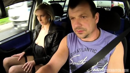 Slut Serves Her Customer In The Car - scene 1