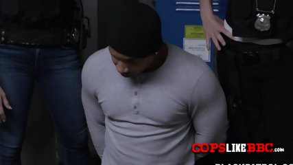 Perverted cops subdue criminal in an electricity room into some hot action