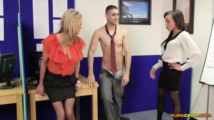 Two Girls Suck Lucky Guy's Dick - scene 4