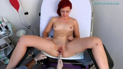 Redhead's Pussy Exam By Kinky Doctor