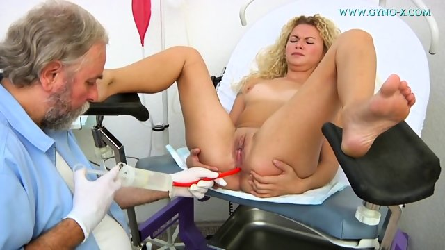Kinky Doctor Examines Her Sweet Pussy