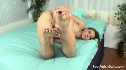 Cute Brunette And Her Sexy Feet