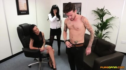 Two Elegant Whores Have Fun With Dick - scene 12
