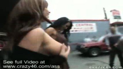 Mariah and Whitney walk around flashing their asses - scene 9