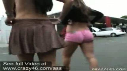 Mariah and Whitney walk around flashing their asses - scene 12