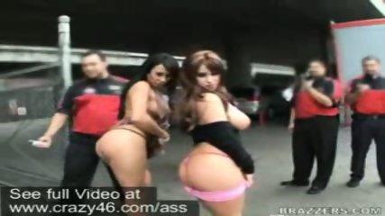 Mariah and Whitney walk around flashing their asses - scene 2