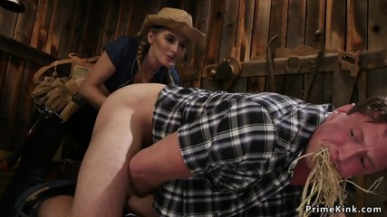 Dom cowgirl anal fingers muscular dude