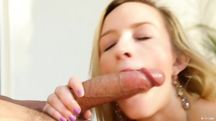 Charming Blonde Sucks Long Dick - scene 8