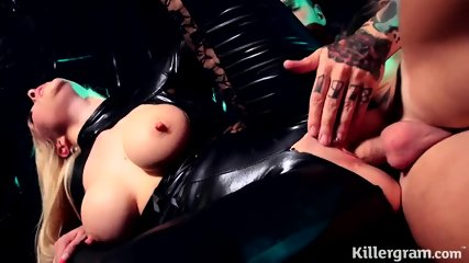 Victoria Summers In Latex Suit Rides Cock - scene 12