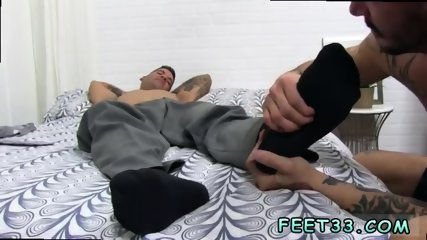 Hot first gay red sex Caleb Gets A Surprise Foot Job
