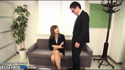 Jav Female Boss Welcomes New Worker - scene 1