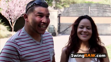 Nervous couple surprises other swingers with their sexual wildness
