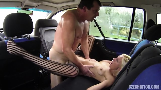 European Whore Fucked In The Car