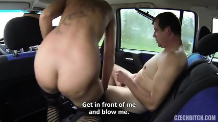 European Whore Fucked In The Car - scene 7