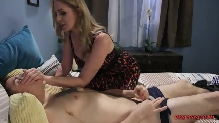Busty Julia Corbin Ties Up a Guy