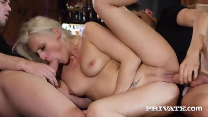 Private.com Horny Milf Rides A Threesome With DP - scene 9