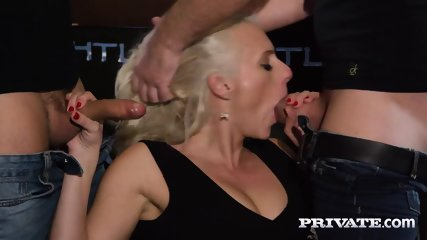 Private.com Horny Milf Rides A Threesome With DP - scene 5