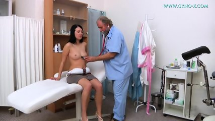 Kinky Doctor Touches Her Pussy - scene 1