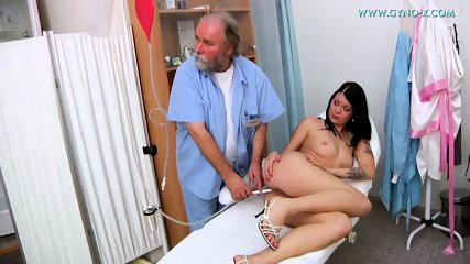 Kinky Doctor Touches Her Pussy - scene 2