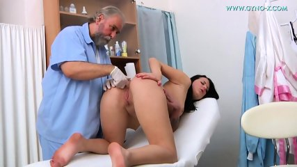 Kinky Doctor Touches Her Pussy - scene 7