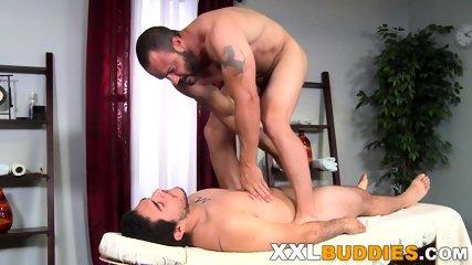 Masseur rides big cock - scene 9