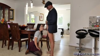 Old hairy pussy Riding the Old Wood! - scene 8