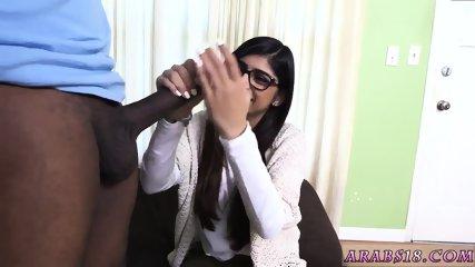 Cute young teen cam Mia Khalifa Tries A Big Black Dick - scene 3