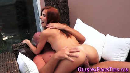 Teen spermed by gramps - scene 9