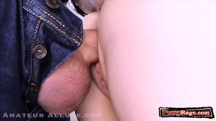 Hot amateur ball licking and cum in mouth - scene 8