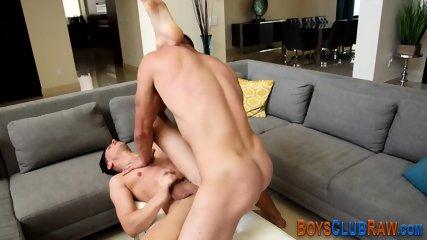 Raw fucked hunk jizzing - scene 9