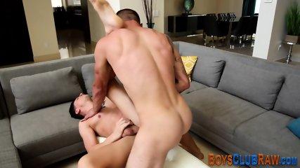 Raw fucked hunk jizzing - scene 10