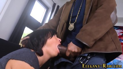 Posh ho licks up bbc cum - scene 3