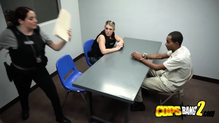 Naughty MILF cops using whore techniques for interrogation