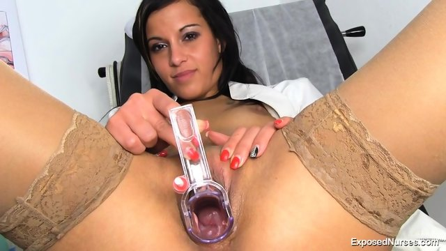 Kinky Nurse Plays With Toys