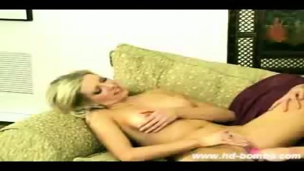 Laurie and Monica Dildo Sex on the Couch! - scene 10