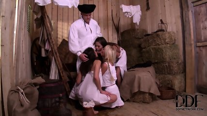 Hard Cock For Three Horny Ladies Bonnie, Henessy And Kiara - scene 5