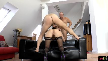 Assfucked MILF Jizzcovered After DP Pounding - scene 10