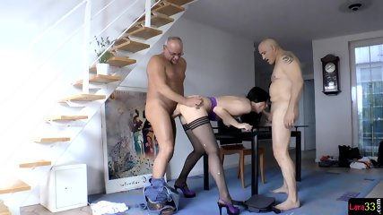 Assfucked MILF Jizzcovered After DP Pounding - scene 4
