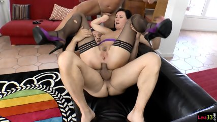 Assfucked MILF Jizzcovered After DP Pounding - scene 6