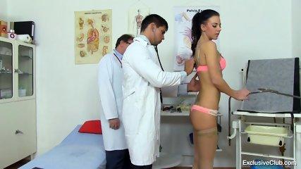 Examination Of Brunette's Pussy - scene 2