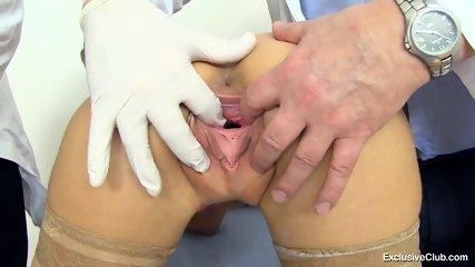 Examination Of Brunette's Pussy - scene 4