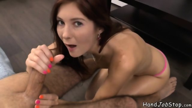 Kattie Gold Rubs Hard Cock