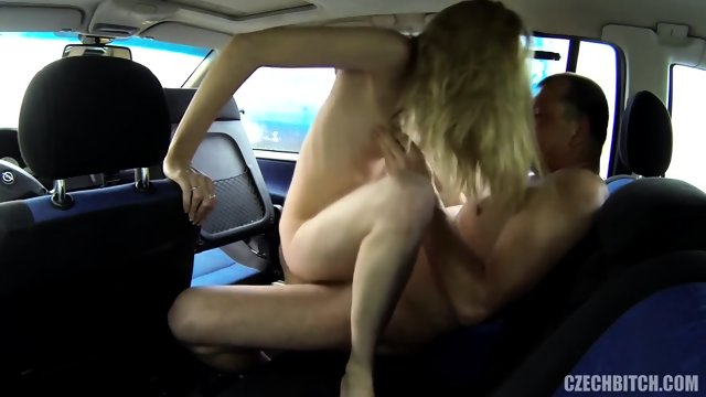 Blonde Slut Gets Fucked In Car