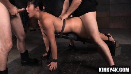 Asian pornstar bdsm bondage with cumshot